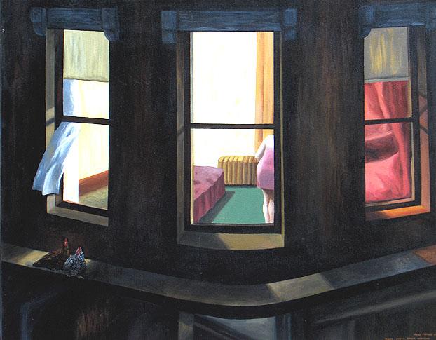 Night Windows (after Edward Hopper)