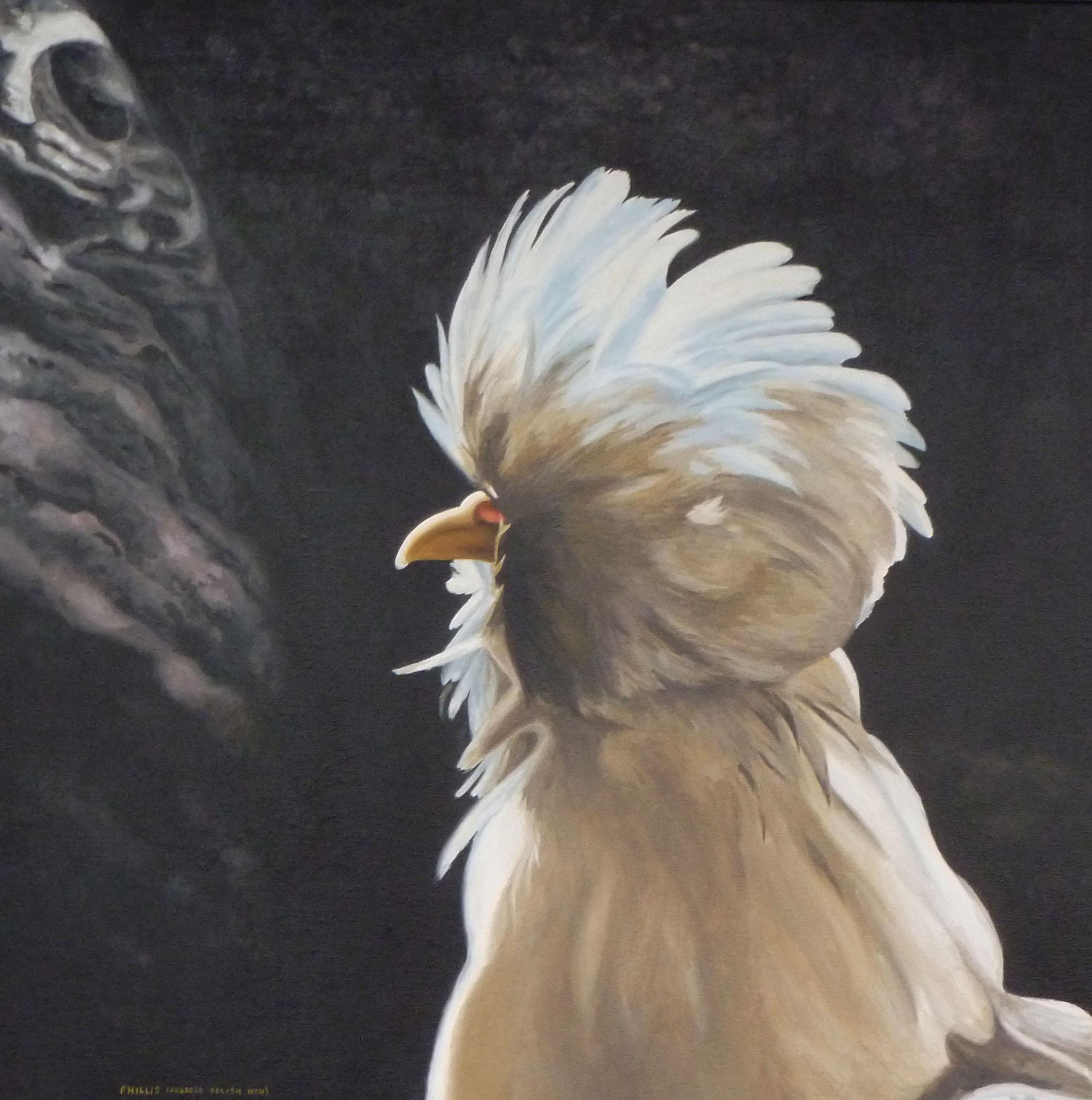 Phyllis (Bearded Polish Hen)