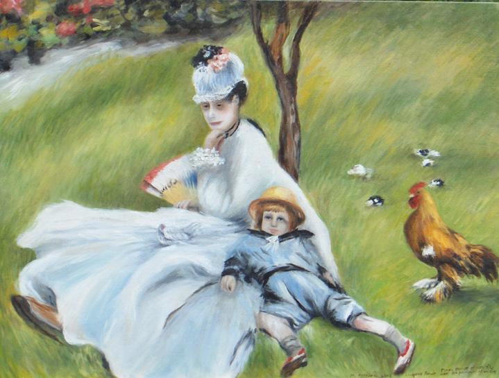 Madame Monet's Chicken (after Claude Monet)